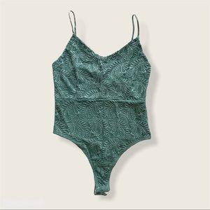 Green Lace Bodysuit